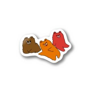 秋のくま autumn bears Stickers