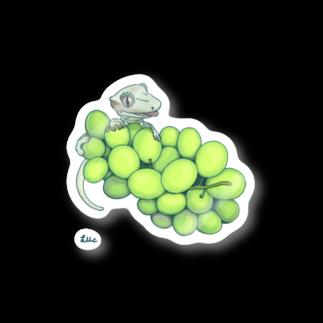 檸檬飴のクレステッドゲッコー(ホワイト)×トンプソンシードレス Stickers