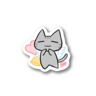 「まったりにゃんこ。」(天使) Stickers