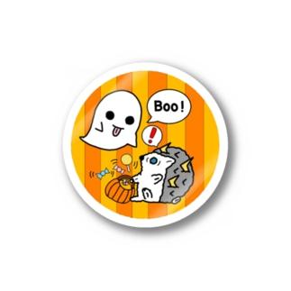 kotの我が家のネコ天使達ハロウィンステッカー(雷雲のハリネズミ) Stickers