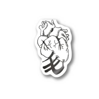 心臓に毛が生えた Stickers