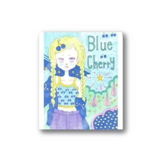 Blue cherry Stickers