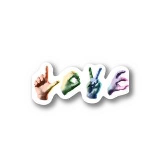 ponapanのLOVE_rainbow Stickers
