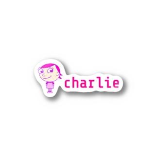 charlolのロゴcharlie Stickers