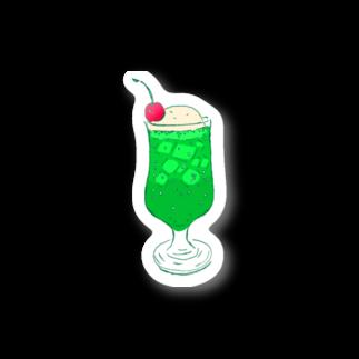 NIKORASU GOのメロンクリームソーダ@文字なし Stickers