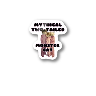 hazuhazu522のMYTHICAL TWO TAILED MONSTER CAT Stickers