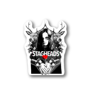 stagheads2019のstagheadsロゴステッカー3 Stickers