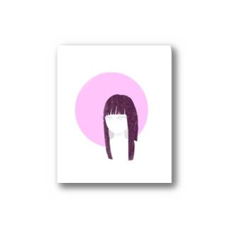 monacoocの見つめる女の子 Stickers