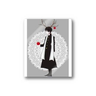 Aa_okomenootooの林檎くんグッズ Stickers