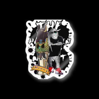 ヒゲプロ 代表のハロウィン ミイラ Stickers