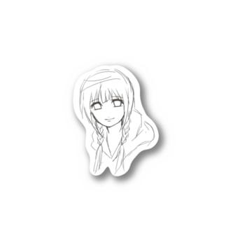 Tokicafeのもの寂しげな笑顔の子 Stickers