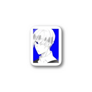 真っ青イケメングッズ Stickers