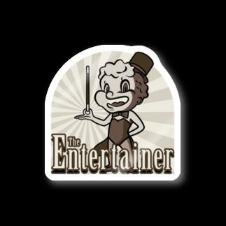 Gbのジ・エンターテイナー イラスト レトロ キャラクター Stickers