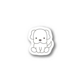おっとり犬、しろう Stickers