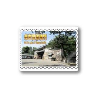 日本の城:名古屋城の城門★白地の製品だけご利用ください!! Japanese castle: Castle gate of Nagoya Castle★Recommend for white base products only !! Stickers