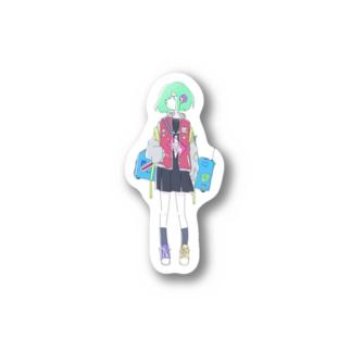 Tank girl 【Blue】 Stickers