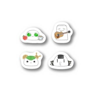 餅米魂4人セット Stickers