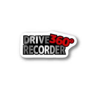 ドラレコシール360(プレート風2) Stickers