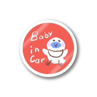 Baby in Car ステッカー Stickers