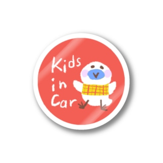 Kids in Car ステッカー Stickers