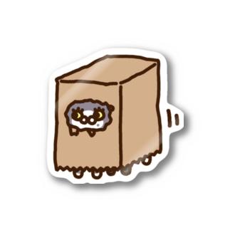 Kashi Illustrationのおしゃべりネコちゃんず かみぶくろVer. Stickers