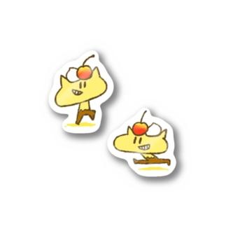 プリンねこさん Stickers