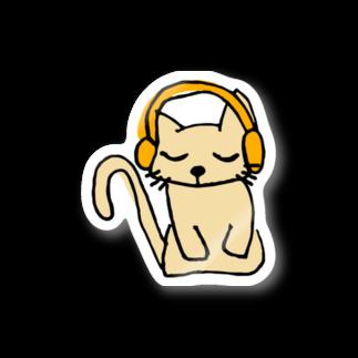聞く耳ねこのお店の聞く耳ねこ Stickers