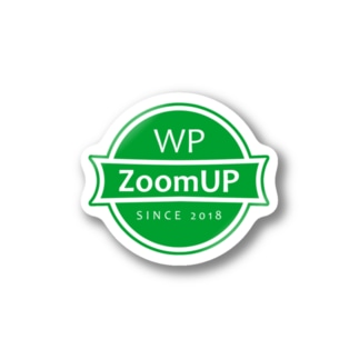 WP ZoomUP ロゴ(Green) Stickers
