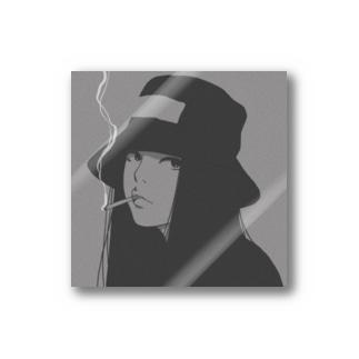 帽子の女の子 Stickers