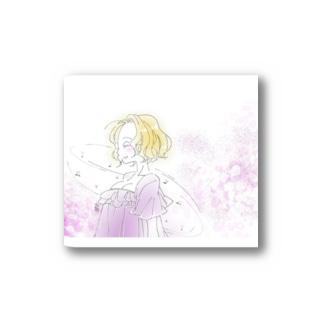 うたう/女の子 Stickers