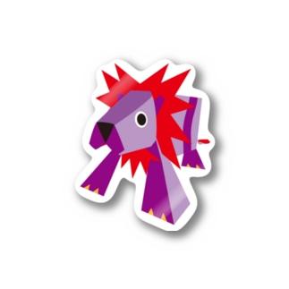 牛乳パックのライオン Stickers