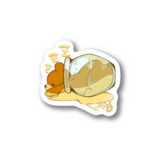 んまちゃんショップのはちみつクマちゃん( 縁なし) Stickers