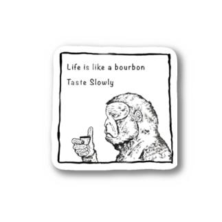 Drinking Monkey 酒飲みザル Stickers