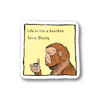 Drinking Monkey 酒飲みザルカラーver Stickers