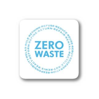 ZERO WASTE (ブルー) Stickers