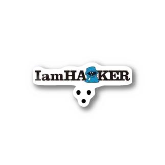 IamHA■KER(ライトカラー) Stickers