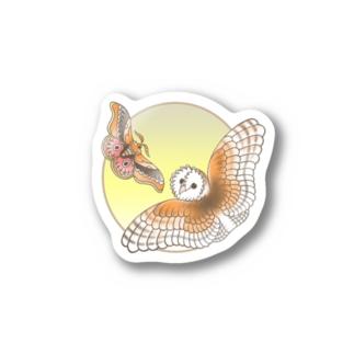 クスサンとメンフクロウ  Stickers