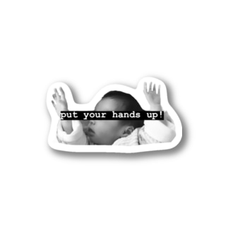 Put your hands up!! Stickers