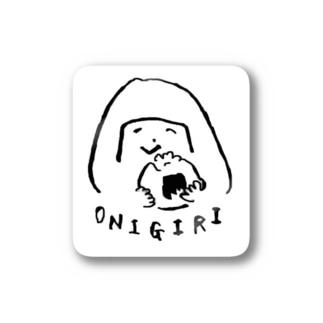陽気なおにぎりガール Stickers