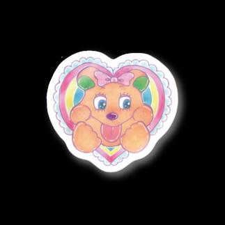 かなえるちゃんのラブリーベア Stickers