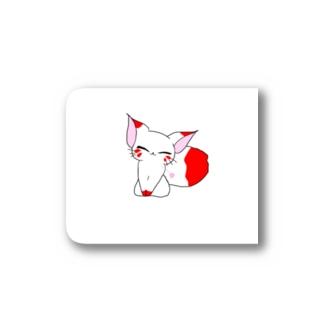 白ギツネさんステッカー Stickers