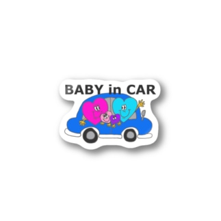 Happy Hearts Baby in carスッテカー。 Stickers