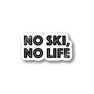 NO SKI, NO LIFE Stickers