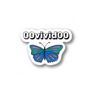 蝶々 シール Stickers