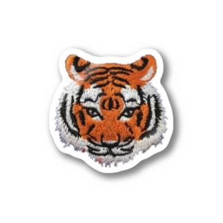 虎刺繍風 Stickers