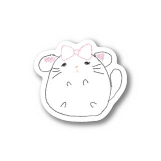 チンチラちゃん(白) Stickers