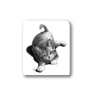 かぎねこ(モノクロ)② Stickers