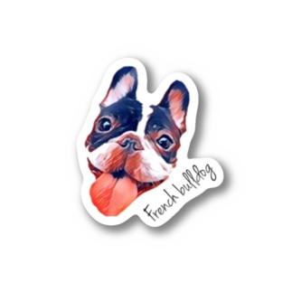 フレンチブルドッグ(イラスト風) Stickers