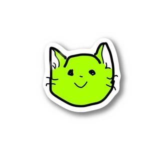 緑ねこさん Stickers