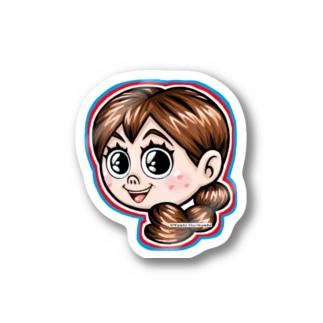 彼女の名前は、森邦子 Stickers